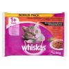 Whiskas Húsos-Zöldséges Válogatás teljes értékű eledel felnőtt macskák számára mártásban 4 x 100 g