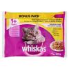 Whiskas Szárnyas Válogatás teljes értékű állateledel felnőtt macskák számára aszpikban 4 x 100 g