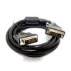 WIRETEK kábel DVI monitor Összekötő 3m, Male/Male, Dual Link, Árnyékolt - DVI07-3