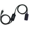 WIRETEK kábel USB Hosszabbító A-A, 15m, Male/Female, Aktív