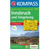WK 036 - Innsbruck és környéke turistatérkép - KOMPASS
