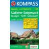 WK 168 - Südlicher Steigerwald turistatérkép - KOMPASS