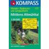 WK 177 - Mittleres Altmühltal turistatérkép - KOMPASS