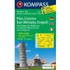 WK 2457 - Pisa - Livorno - San Miniato - Empoli turistatérkép - KOMPASS