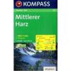 WK 452 - Mittlerer Harz turistatérkép - KOMPASS