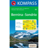WK 93 - Bernina - Sondrio turistatérkép - KOMPASS