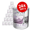 Wolf of Wilderness Little Wolf of Wilderness 24 x 800 g - Wild Hills Junior - kacsa & borjú