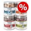 Wolf of Wilderness Sparpaket Wolf of Wilderness - Gefriergetrocknete Premium-Snacks - Mix, 4 fajta (280 g)