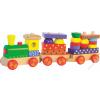Woodyland Fa vonat vagonokkal - világító-dudáló