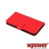 WPOWER Samsung Galaxy S5 műbőr telefontok, piros (3463)