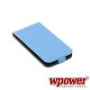 WPOWER Samsung Galaxy S5 valódi bőr telefontok, kék (3468)