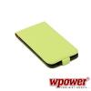 WPOWER Samsung Galaxy S5 valódi bőr telefontok, zöld (3468)