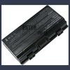 X58 4400 mAh 6 cella fekete notebook/laptop akku/akkumulátor utángyártott