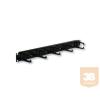 """X-Tech 1U magas gyűrűs panel 19"""" rack szekrényhez, 5 db műanyag gyűrűvel, fekete"""