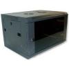X-Tech - 6U 600x450 mély fali rack szekrény, sötétszürke
