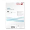 Xerox Etikett, univerzális, 38,1x21,2 mm, kerekített sarkú, XEROX, 6500 etikett/csomag [100 lap]