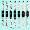 """Xiaomi Mi Band 3 / Mi Band 4 és Xiaomi Mi Band 5 """"hypebeast"""" mintás pótszíj fehér"""