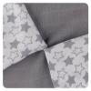 Xkko Bambusz szalvéta Little Stars 30x30, Silver (9drb)