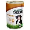 Yarrah 6 x 405g Yarrah Bio falatkák kutyatáp - Csirke, csalán & paradicsom szószban