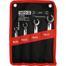 Yato Fékcsőkulcs készlet 4 részes 8-17 mm ipari CrV 6140 (YT-0143) villáskulcs
