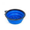 Yummie Összenyomható etetőtál - habzsolásgátlóval - kék - 1000 ml (60008BL)