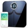 Yunmai Premium vezeték nélküli okosmérleg, Fitbit/Apple Health/Google Fit kompatibilis, fekete