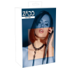 Zado ZADO - valódi bőr szegecses nyakörv pórázzal (fekete)