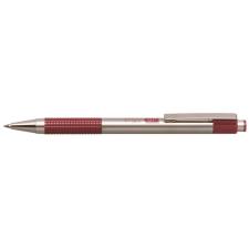 """Zebra Golyóstoll, 0,24 mm, nyomógombos, rozsdamentes acél, bordó tolltest, ZEBRA """"F301"""", kék toll"""