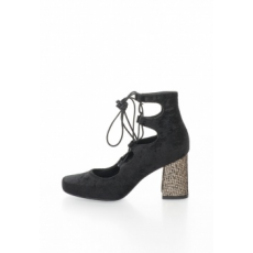 Zee Lane Collection - Velvety Lace-Up Shoes, Fekete, 39 (2162-CINIGLIA-NERO-ZNC-39)