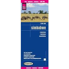 Zimbabwe térkép - Reise Know-How térkép