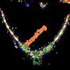 Zöld virág nyaklánc