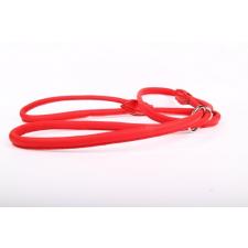 Zooleszcz Dog show (kiállítási) felvezető bőr póráz - Piros nyakörv, póráz, hám kutyáknak