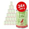 Zooplus Bio 24x400g - Mix: 12 x 400 g csirke, 12 x 400 g pulyka
