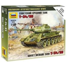 Zvezda Soviet Tank T-34/85 tank makett Zvezda 6160 makett figura