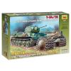 Zvezda T-34/76 Soviet tank with mine roller makett Zvezda 3580