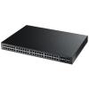 ZyXEL Switch 44x1000Mbps+2xSFP+4x1000Mbps/SFP Menedzselhető L2 POE (375 Watt)